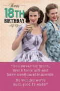 18th Humorous Friends Birthday Card